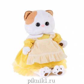 Кошечка Ли-Ли в желтом платье с передником 27 см