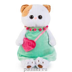 Кошечка Ли-Ли в мятном платье с розовой сумочкой 27 см